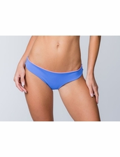Water Glamour Swimwear Stephanie Reversible Full Bottom in Sedona Blue/Coral