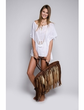 White Fringe Tunic