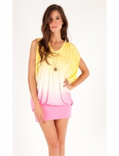 Young Fabulous and Broke Otti Dress in Lemon Pink