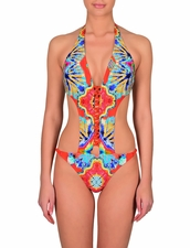 Zeki Swimwear B.2003-17US Monokini One-Piece Swimsuit