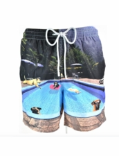 Zeybra Portofino 1962 AUB593 Pool Dogs Swim Trunks