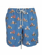 Zeybra Portofino 1962 AUB606 Motorcycle Girl Swim Trunks
