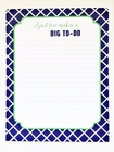 Big To-Do Notepad
