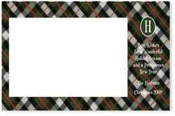Green Plaid Monogram