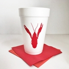 Happy Crawfish Foam Cup