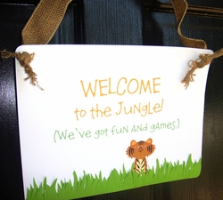 Jungle Safari Door Sign