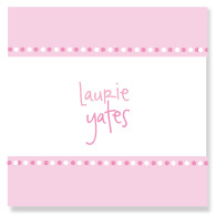 Pink on Pink Polka Border/Set of 25