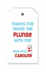 Polar Bear Favor Tags/Set of 24