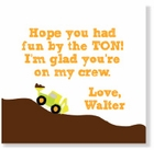 Road Work Party Favor Tag/Set of 25