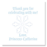 Winter Princess Favor Tag/Set of 25