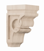01600627WL1 Carved Wood Celtic Corbel Small Walnut