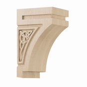 01600628HM1 Gaelic Decorative Wood Corbel Small Hard Maple