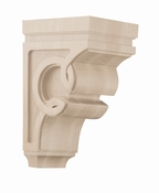01600927WL1 Celtic Decorative Wood Corbel Medium Walnut