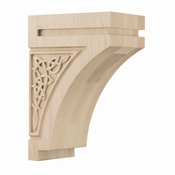 01600928HM1 Gaelic Decorative Wood Corbel Medium Hard Maple