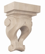 01601301HM1 Ribbon Open Decorative Wood Corbel Hard Maple