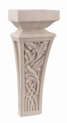 01601357CH1 Nouveau Decorative Wood Corbel Small Cherry