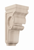 01601427AK1 Celtic Decorative Wood Corbel Large Red Oak