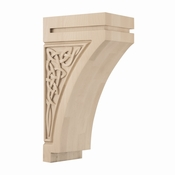 01601428HM1 Gaelic Decorative Wood Corbel Large Hard Maple