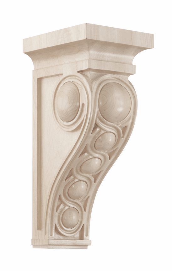 01601437wl1 infinity decorative wood corbel large walnut for Large exterior corbels