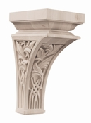 01601457HM1 Nouveau Decorative Wood Corbel Large Hard Maple