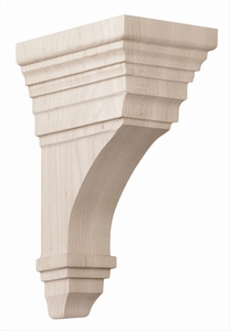 01607011HM1 Full Arts and Crafts Wood Corbel Hard Maple
