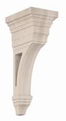 01607013HM1 Open Arts and Crafts Wood Corbel Hard Maple