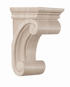 01607115HM1 Small Madeline Wood Corbel Full Hard Maple
