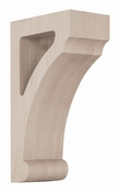 01608008AK1 Full Craftsman Wood Open Corbel Red Oak