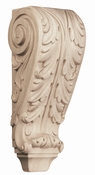 01609001AK1 Full Acanthus Wood Corbel Large Red Oak