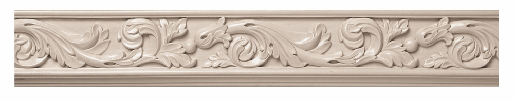 Hm acanthus carved wood frieze hard maple