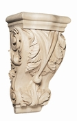 01901001HM1 Full Large Acanthus Hard Carved Corbel Hard Maple
