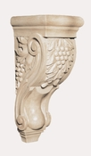 01901005HM1 Full Large Grapevine Tassel Hard Carved Corbel Hard Maple