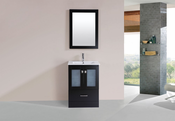 "24"" Hermosa Espresso Single Modern Bathroom Vanity with Integrated Sink<br>by Pacific Collection"
