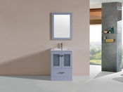 "24"" Hermosa Gray Single Modern Bathroom Vanity with Integrated Sink<br>by Pacific Collection"