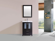 "24"" Newport Espresso Single Modern Bathroom Vanity with Integrated Sink<br>by Pacific Collection"