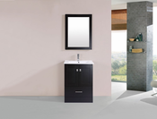 "24"" Redondo Espresso Single Modern Bathroom Vanity with Integrated Sink<br>by Pacific Collection"