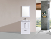 "24"" Redondo White Single Modern Bathroom Vanity with Integrated Sink<br>by Pacific Collection"