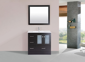 "36"" Hermosa Espresso Single Modern Bathroom Vanity with Integrated Sink<br>by Pacific Collection - Left"