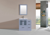 "36"" Hermosa Gray Single Modern Bathroom Vanity with Side Cabinet and Integrated Sink<br>by Pacific Collection"
