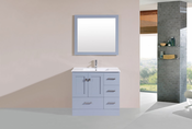 "36"" Redondo Gray Single Modern Bathroom Vanity with Integrated Sink<br>by Pacific Collection - Right"