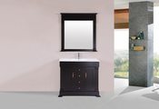 "40"" Balboa Espresso Single Traditional Bathroom Vanity with Integrated Sink<br>by Pacific Collection"