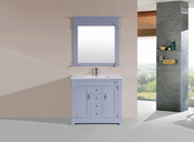 "40"" Balboa Gray Single Traditional Bathroom Vanity with Integrated Sink<br>by Pacific Collection"