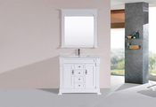 "40"" Balboa White Single Traditional Bathroom Vanity with Integrated Sink<br>by Pacific Collection"