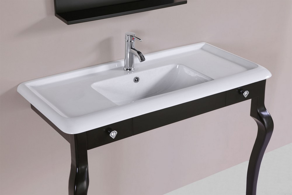 40 marina espresso single traditional ada bathroom vanity for How much to install a bathroom vanity and sink