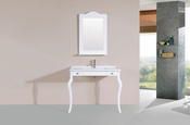 "40"" Marina White Single Traditional ADA Bathroom Vanity with Integrated Sink<br>by Pacific Collection"