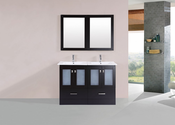 "48"" Hermosa Espresso Double Modern Bathroom Vanity with Integrated Sinks<br>by Pacific Collection"