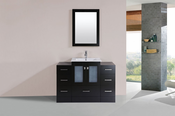 "48"" Hermosa Espresso Single Modern Bathroom Vanity with 2 Side Cabinets and Integrated Sink<br>by Pacific Collection"