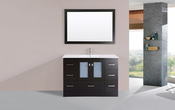 "48"" Hermosa Espresso Single Modern Bathroom Vanity with Integrated Sink<br>by Pacific Collection"