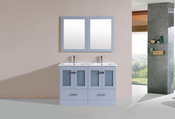"48"" Hermosa Gray Double Modern Bathroom Vanity with Integrated Sinks<br>by Pacific Collection"