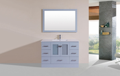 "48"" Hermosa Gray Single Modern Bathroom Vanity with Integrated Sink<br>by Pacific Collection"